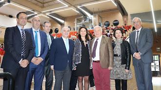 Zafra,  junto a representantes de la UAL y organizadores de las jornadas de turismo.