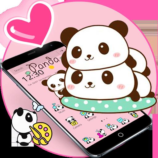 Pink Cute Panda Baby Theme file APK Free for PC, smart TV Download