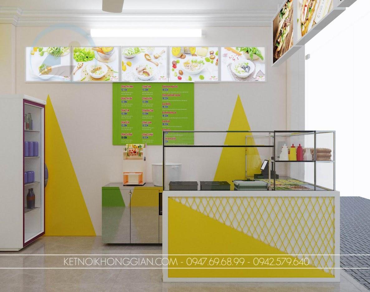 cách trang trí cửa hàng ăn uống