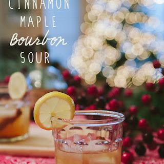 Cinnamon Maple Bourbon Sour