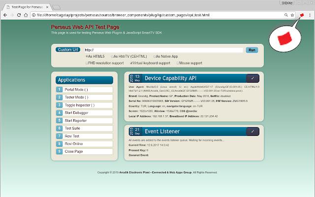 Arcelik Smart TV Browser Emulator