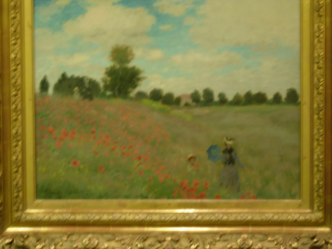 Les coquelicots à Argenteuil - Claude Monet au Musée d'Orsay à Paris