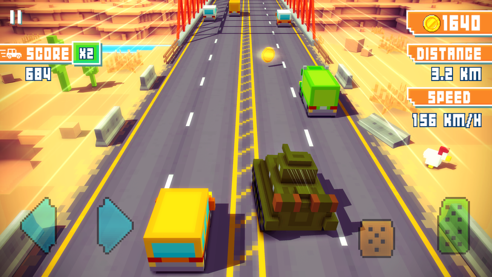 Blocky Highway: Traffic Racing- screenshot