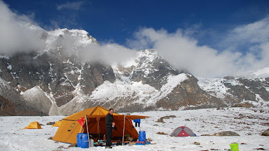 Photo: Kharta Valley, our 'Tibetan' dining tent at Lalung La High Camp ...