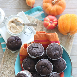 Chocolate Pumpkin Muffins.