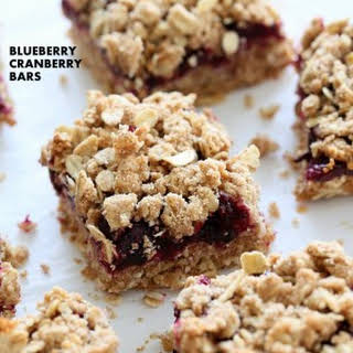 Cranberry Blueberry Crumb Bars.