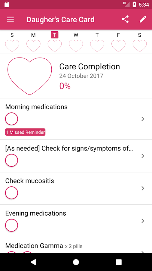 HealthSteps- screenshot