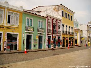 Photo: #017-Salvador de Bahia. Le quartier du Pelourinho. Site classé au Patrimoine Mondial de l'Unesco.