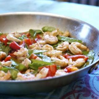 Shrimp & Sugar Snaps in Red Chili Sauce