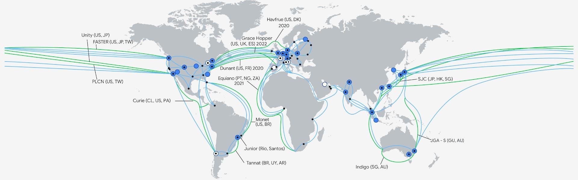 Google Cloud 基礎架構地圖