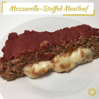 Mozzarella-Stuffed Meatloaf.