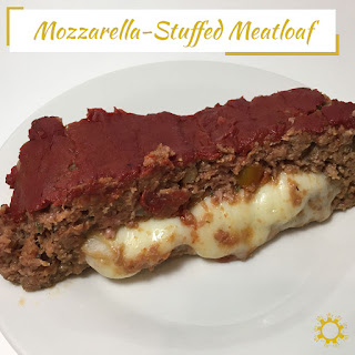 Mozzarella-Stuffed Meatloaf.