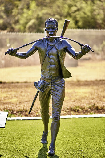 Chief Klaas Stuurman immortalised in bronze at Pretoria's National Heritage Monument.