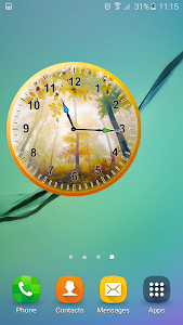 Autumn Analog Clock screenshot 0