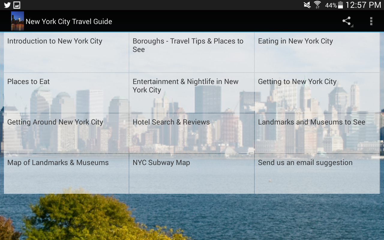 New York City Travel Guide- screenshot