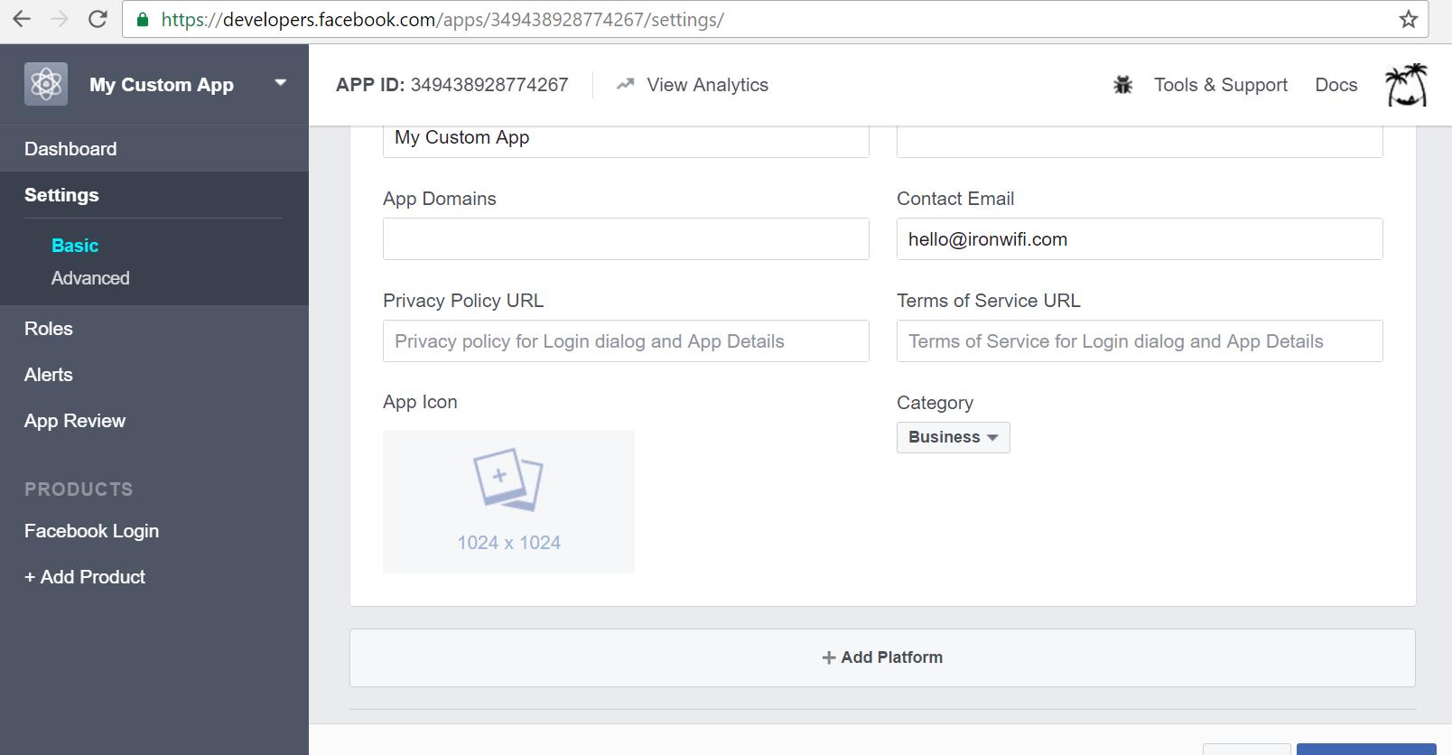 facebook add platform