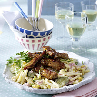 Honey Roasted Ribs with Pasta Salad