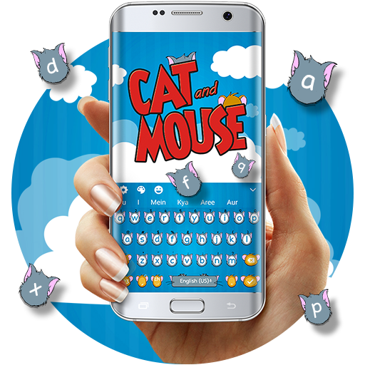 Cat & Mouse Cartoon Keyboard Theme