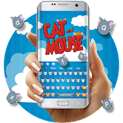 Download Cat && Mouse Cartoon Keyboard Theme APK on PC