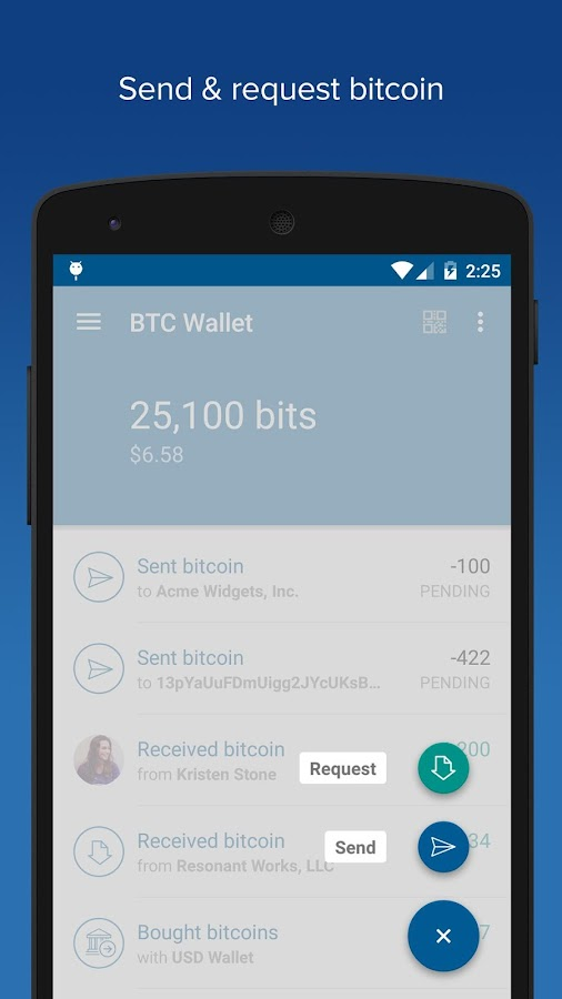 Bitcoin Wallet - Coinbase- screenshot