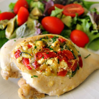 Chicken Breast Stuffed with Feta & Vegetables.