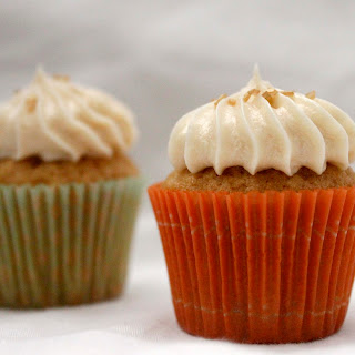 Brown Sugar Cupcakes With Maple Frosting.