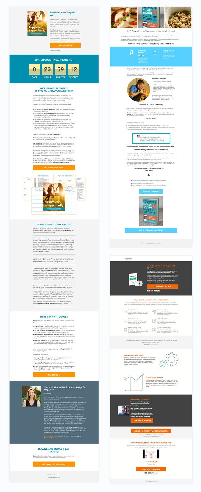 sales page landing page examples