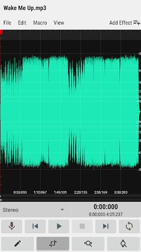 WaveEditor for Androidu2122 Audio Recorder & Editor 1.0 screenshots 1