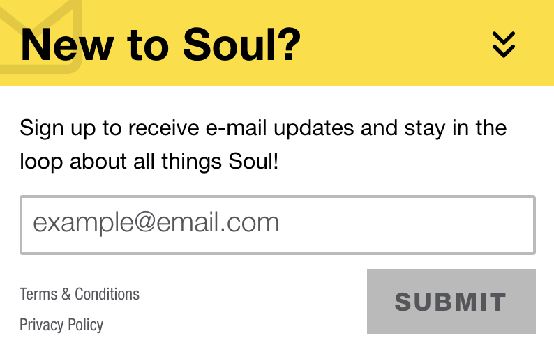 new to Soul email
