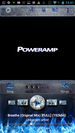 Poweramp Skin Blue Inferno