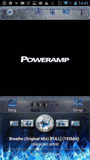 Poweramp Skin Blue Inferno