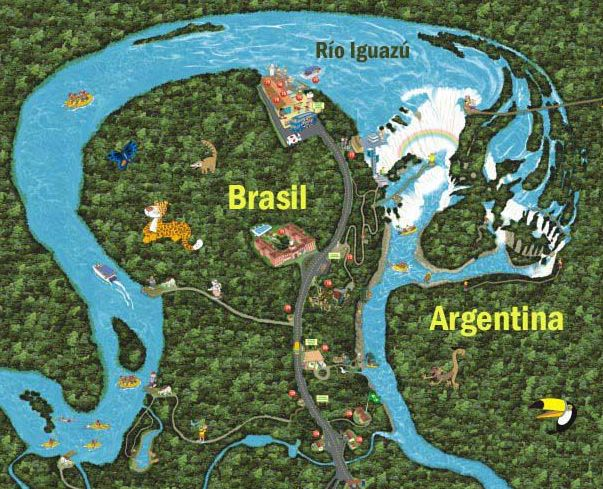 Mapa de las Cataratas del Iguazú