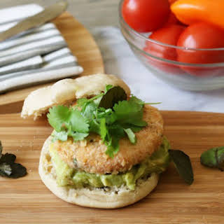 Pan Fried Salmon Burgers.
