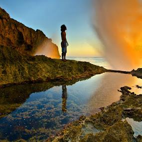 by Wisnu Taranninggrat - Landscapes Mountains & Hills ( bali, sigma, sunset, waterspace, nikon, landscape, blow )