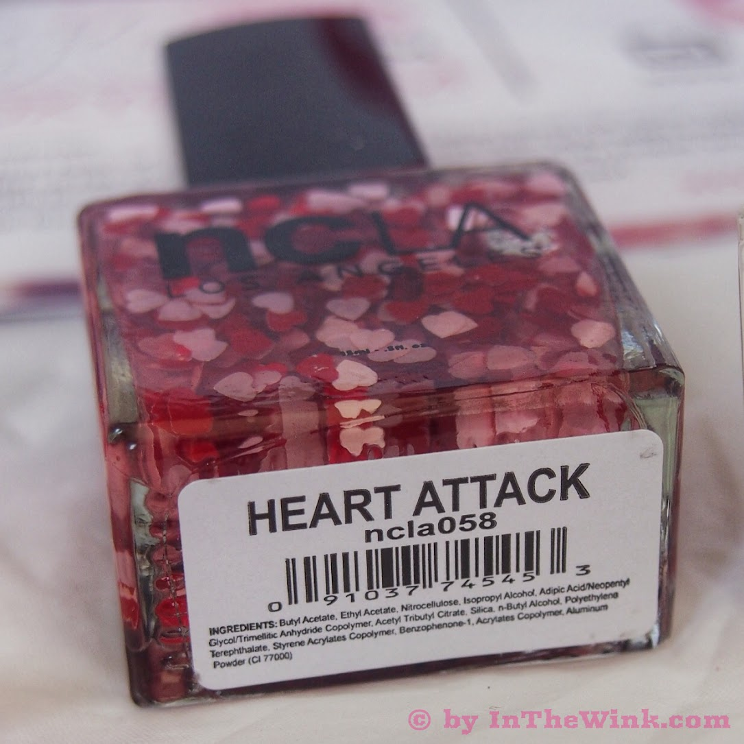 """ncLA Nail Lacquer in """"Heart Attack"""""""