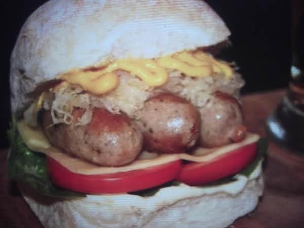 German Bratwurst Burger