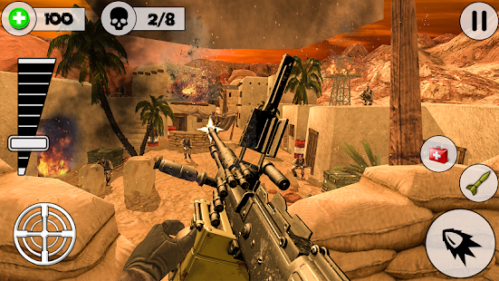 Desert Storm Gunship Gunner Battlefield: fps games - náhled