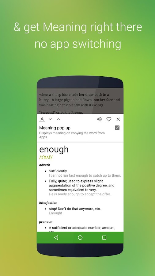 onTouch Dictionary : Pop up- screenshot