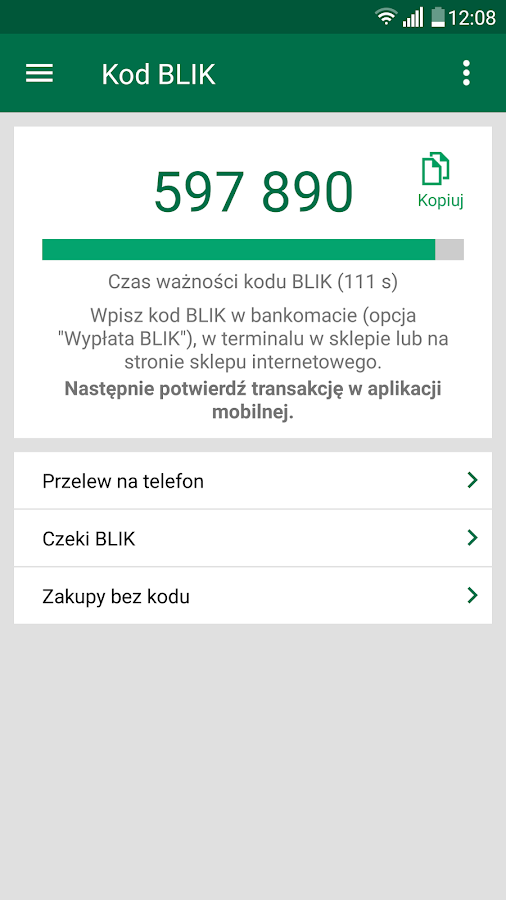 BZWBK24 mobile- screenshot
