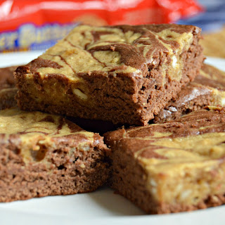 Peanut Butter and Chocolate Swirl Brownies