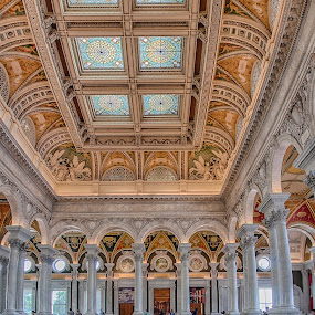 Inside The LOC by Craig Pifer - Buildings & Architecture Public & Historical ( dc, interior, building, vertorama, congress, hdr, loc, architecture, library of congress, washington d.c., washington, library, washington dc )