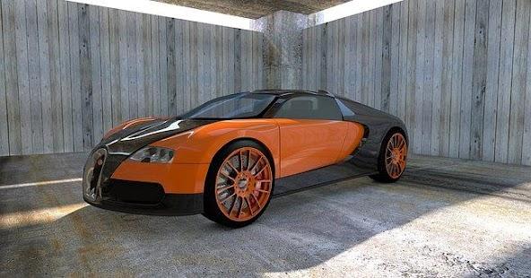 Bugatti car racing simulator - náhled