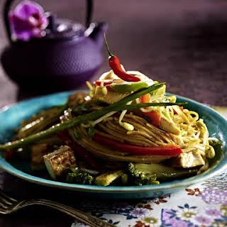 Tofu Stir Fry with Noodles.