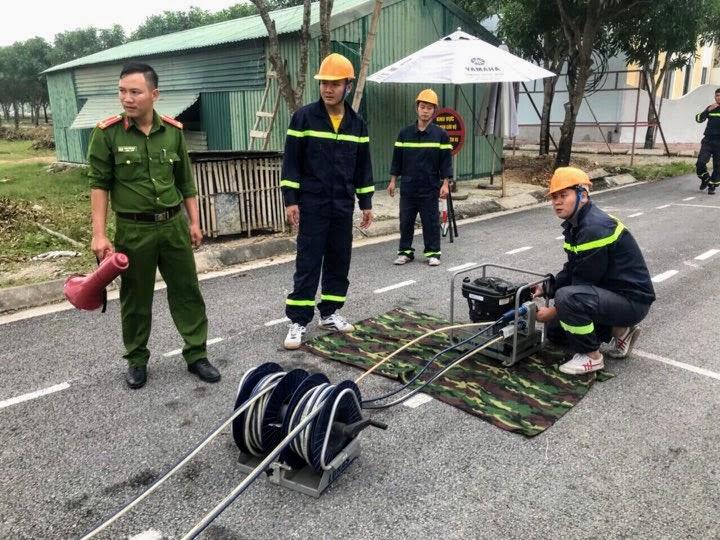 Kiểm tra máy phát điện phục vụ chữa cháy