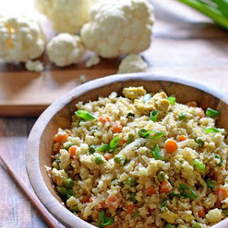 "Cauliflower Fried ""Rice""."