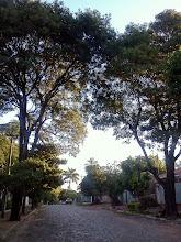 Photo: いま住んでるとこの周辺。住宅街のなかは石畳です。