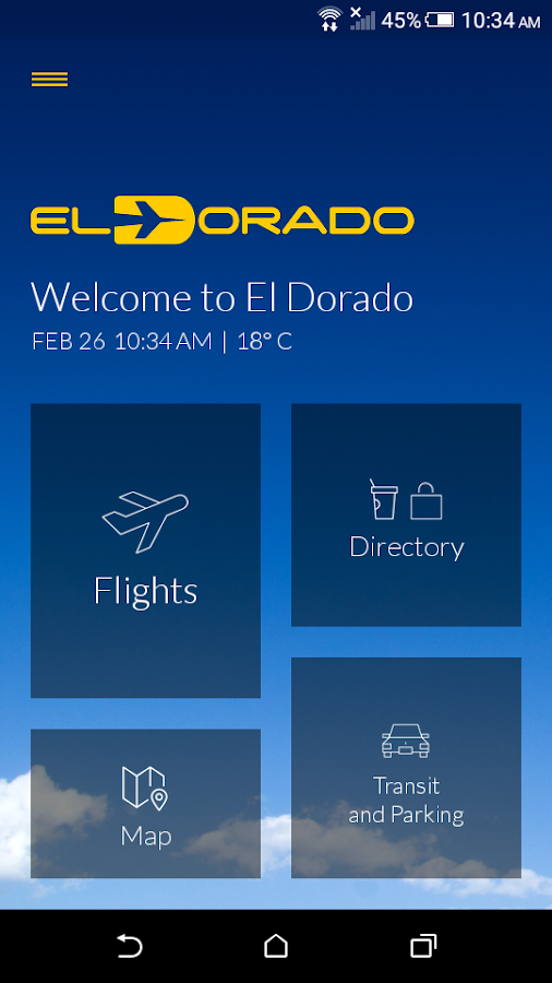 El Dorado App- screenshot
