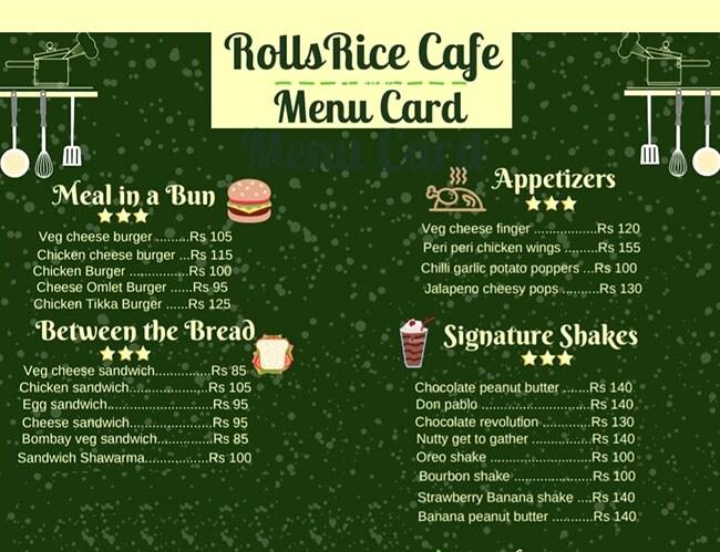 Rolls Rice Cafe menu 2