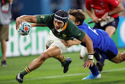 Cheslin Kolbe scored a pair of tries in the Boks' victory against Italy.