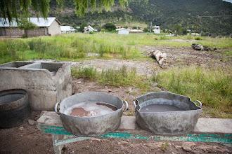Photo: dish washingset up for 100 school children